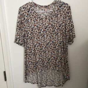 High to low patterned top